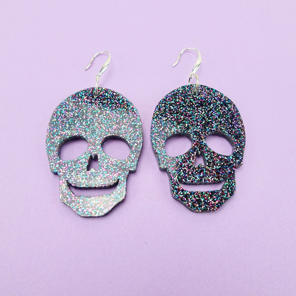 Skull Earrings - Party Glitter - edenki