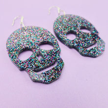 Load image into Gallery viewer, Skull Earrings - Party Glitter - edenki