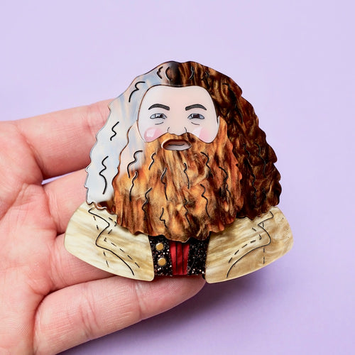 Happy Hagrid Brooch