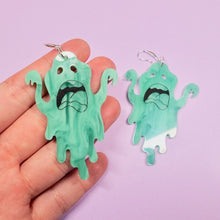 Load image into Gallery viewer, Ghost Earrings - Slimer Green