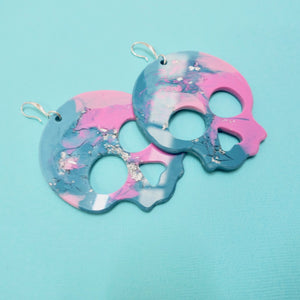 Statement Skull Earrings in Nebula - edenki
