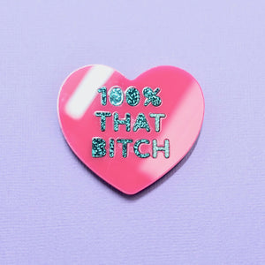 Candy Heart Brooch - 100% THAT BITCH - edenki