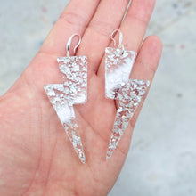Load image into Gallery viewer, Lightning Bolt Earrings - Iridescent Chunky Glitter - edenki