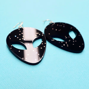 Alien Earrings - Black Galaxy - edenki