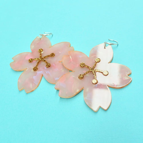 Sakura Statement Earrings - edenki