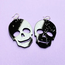 Load image into Gallery viewer, Skull Earrings - Black Galaxy - edenki