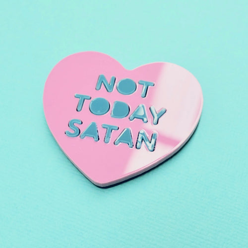 Candy Heart Brooch - NOT TODAY SATAN - edenki