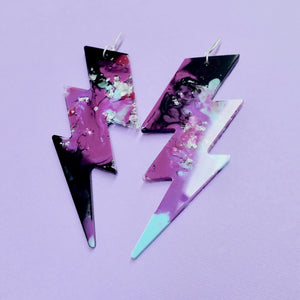 Lightning Bolt Statement Earrings in Xeno - edenki