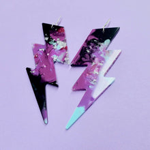 Load image into Gallery viewer, Lightning Bolt Statement Earrings in Xeno - edenki