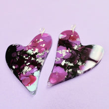 Load image into Gallery viewer, Resin Heart Earrings in Xeno - edenki