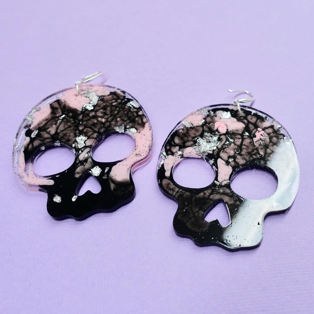 Statement Skull Earrings in Figment - edenki