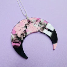 Load image into Gallery viewer, Resin Moon Necklace in Figment - edenki