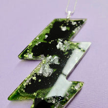 Load image into Gallery viewer, Resin Lightning Bolt Necklace in Toxic - edenki