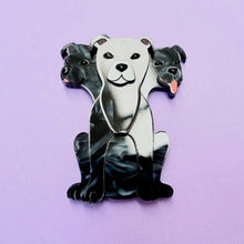 Load image into Gallery viewer, Fluffy Three-Headed Dog Brooch - edenki