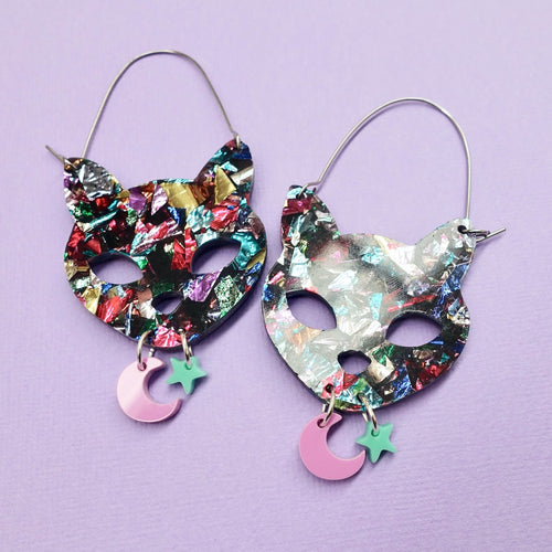 Familiars - Space Cat Party Earrings - edenki