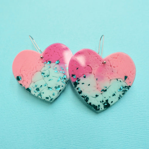 Sweet Heart Earrings in Amai - edenki