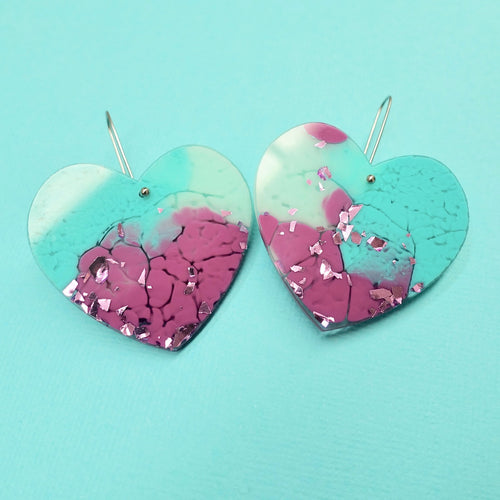 Sweet Heart Earrings in Siren - edenki
