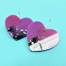 Load image into Gallery viewer, Sweet Heart Earrings in Galaxy - edenki