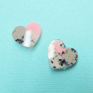 Studs - Heart Earrings in Wisp - edenki