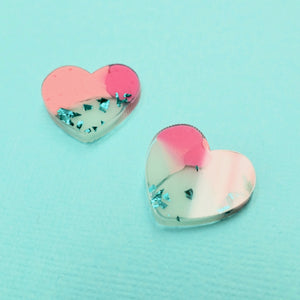 Studs - Heart Earrings in Amai - edenki