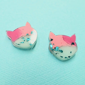 Studs - Cat Earrings in Amai - edenki