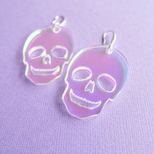 Load image into Gallery viewer, Skull Earrings - Iridescent - edenki