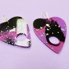 Load image into Gallery viewer, Planchette Resin Earrings - Galaxy - edenki