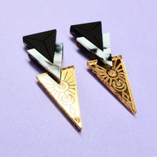 Load image into Gallery viewer, Trinity Earrings - Gold - edenki