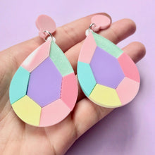 Load image into Gallery viewer, Pastel Teardrop Gem Statement Earrings - edenki