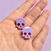 Load image into Gallery viewer, Studs - Lavender Skull - edenki