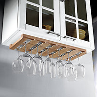 Wooden Hanging Stemware Rack