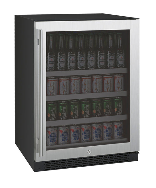 "Allavino 24"" Wide FlexCount II Tru-Vino Stainless Steel Right Hinge Beverage Center - VSBC24-SR20"
