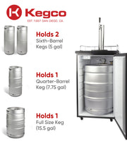 "Kegco 20"" Wide Cold Brew Coffee Single Tap Stainless Steel Single Tap Kegerator - ICK19S-1NK"