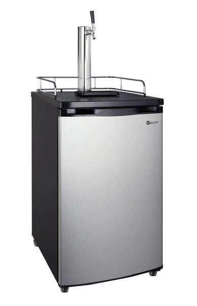 "Kegco 20"" Wide Single Tap Stainless Steel Kegerator - K199SS-1NK"