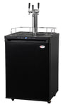 "Kegco 24"" Wide Homebrew Triple Tap Black Digital Kegerator - HBK309B-3NK"
