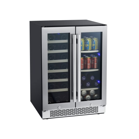 Avallon 24 Inch Wide 21 Bottle and 60 Can Capacity Built-In Wine Cooler and Beverage Center Combo - AWBC241GGFD
