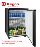 "Kegco 24"" Wide Cold Brew Coffee Single Tap Black Kegerator - ICK20B-1NK"