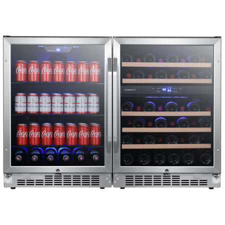 EdgeStar 48 Inch Wide 46 Bottle 142 Can Built-In Side-by-Side Wine and Beverage Center - CWBV14246