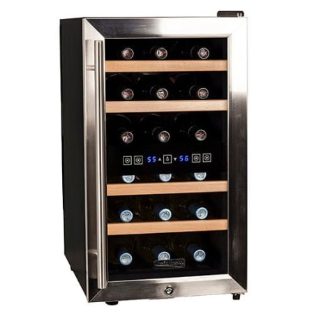 Koldfront 18 Bottle Free Standing Dual Zone Wine Cooler - TWR187ESS