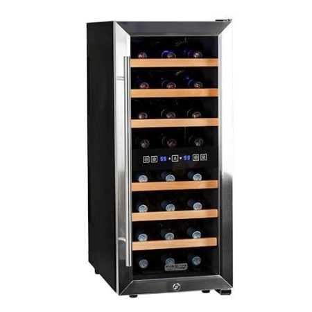 Koldfront 24 Bottle Free Standing Dual Zone Wine Cooler - TWR247ESS