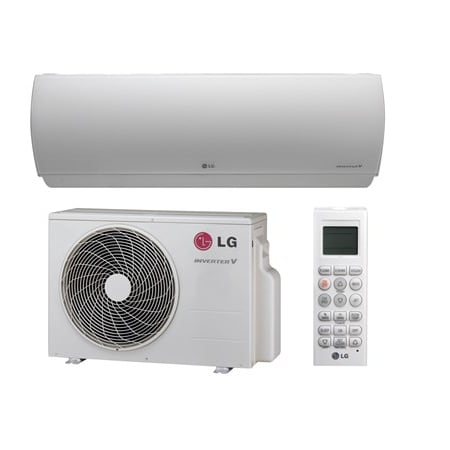 LG 11000 BTU Cooling/12000 BTU Heating 208/230 Volt Single Zone Energy Star Mini Split Condenser with 1 Wall Unit and Dehumidification Technology - LA120HYV1