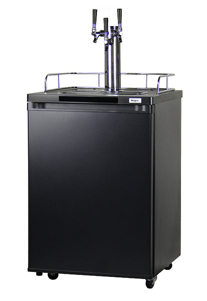 "Kegco 24"" Wide Homebrew Triple Tap Black Kegerator - HBK209B-3NK"
