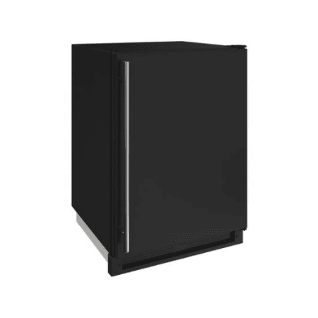 U-Line 24 Inch Wide 4.8 Cu. Ft. Capacity Energy Star Certified Solid Door Beverage Center with Freezer Conversion from the 1000 Series - Black - U-1224FZRB-00A