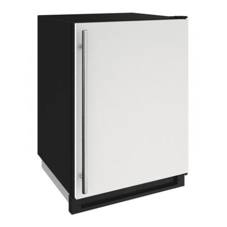 U-Line 24 Inch Wide 4.8 Cu. Ft. Capacity Energy Star Certified Solid Door Beverage Center with Freezer Conversion from the 1000 Series - White - U-1224FZRW-00A