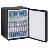 U-Line 24 Inch Wide 5.3 Cu. Ft. Capacity Energy Star Certified Right Handed Solid Door Beverage Center with Lock from the ADA Series - U-ADA24RB-13B