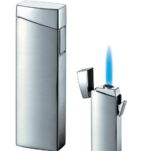 Visol CamiNo Satin Chrome Wind-Resistant Jet Flame Wind-resistant Lighter