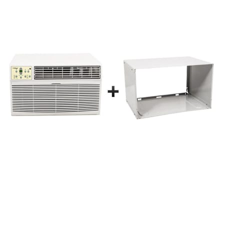 Koldfront 8000 BTU 115V Through the Wall Air Conditioner with 4200 BTU Heater with Remote and Sleeve - WTC8001WSLV