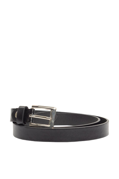 Matte Skinny Belt - Black Womens Belts FAIRWEATHER S/M