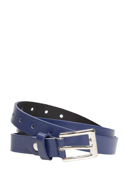 Matte Skinny Belt - Navy Womens Belts FAIRWEATHER S/M