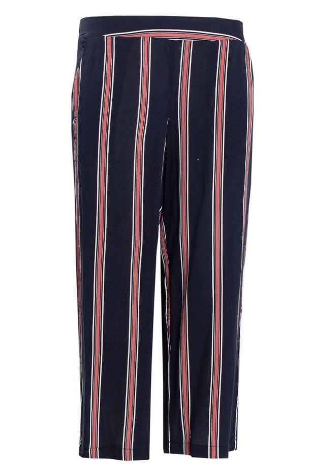Striped Culotte Pants - Navy Womens Pants FAIRWEATHER S